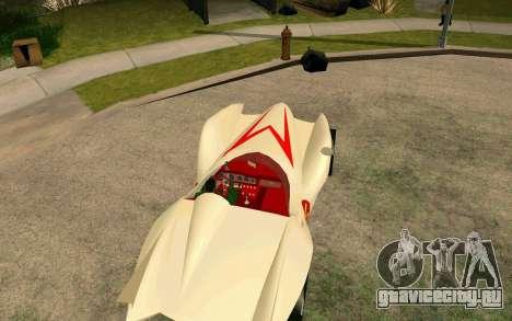 Mach 5 для GTA San Andreas вид сзади слева