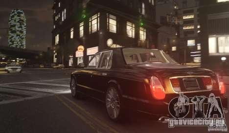 Bentley Arnage T v 2.0 для GTA 4 вид сзади слева