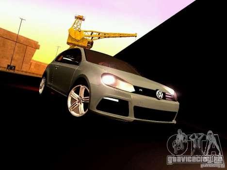 Volkswagen Golf R 2010 для GTA San Andreas вид изнутри