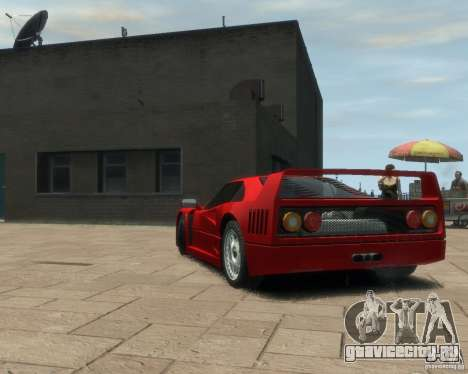 Ferrari F40 для GTA 4 вид сзади слева