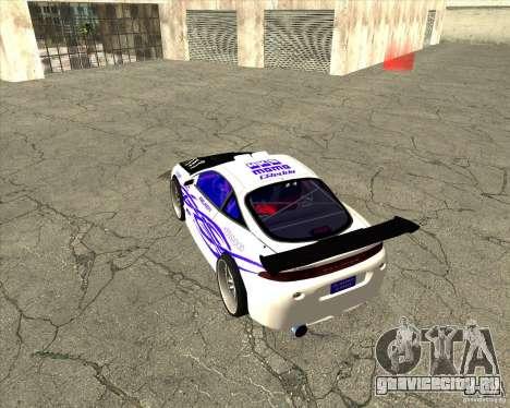 Mitsubishi Eclipse street tuning для GTA San Andreas вид сбоку