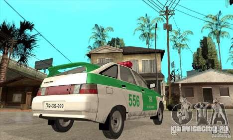ВАЗ 2112 YPX Police для GTA San Andreas вид справа