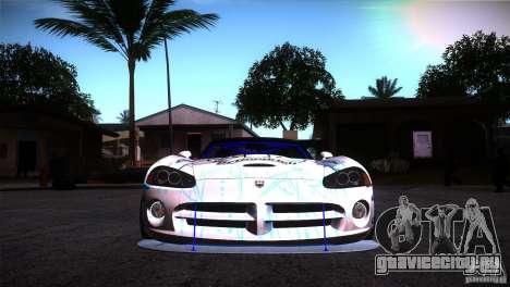 Dodge Viper Mopar Drift для GTA San Andreas вид сзади
