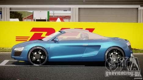 Audi R8 Spyder v2 2010 для GTA 4 вид изнутри