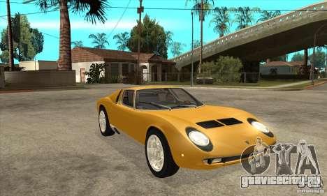 Lamborghini Miura 1966 для GTA San Andreas вид сзади