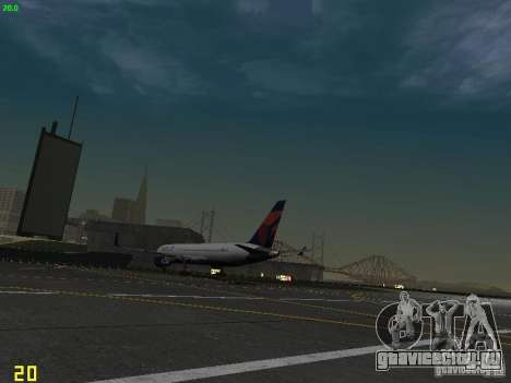 Boeing 767-400ER Delta Airlines для GTA San Andreas вид сзади