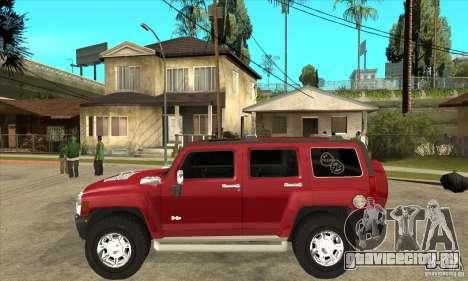 Hummer H3 для GTA San Andreas вид слева