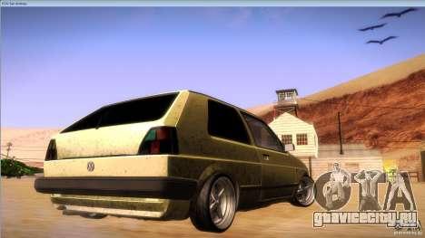 Volkswagen Golf MK II для GTA San Andreas вид сзади