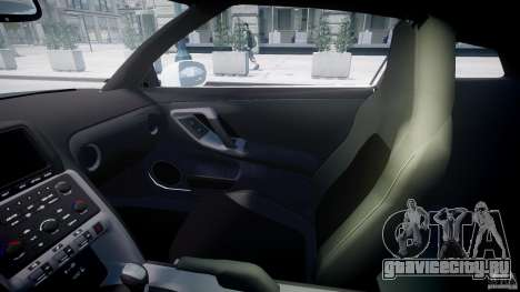 Nissan GTR R35 SpecV v1.0 для GTA 4 вид сбоку