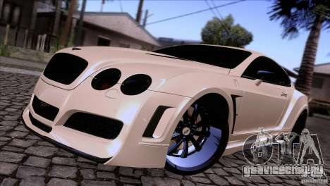 Bentley Continental GT Premier 2008 V2.0 для GTA San Andreas вид сзади слева