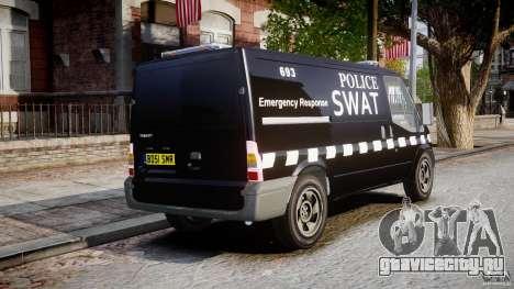 Ford Transit SWAT [ELS] для GTA 4 вид изнутри