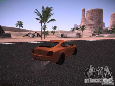 Bentley Continetal SS Dubai Gold Edition для GTA San Andreas вид сзади слева