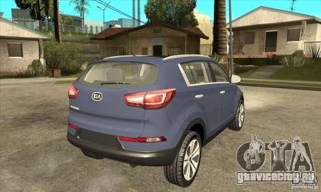 Kia Sportage 2011 HKV для GTA San Andreas вид справа