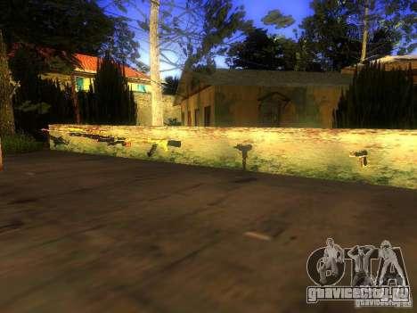 Оружие на Грув Стрит для GTA San Andreas третий скриншот