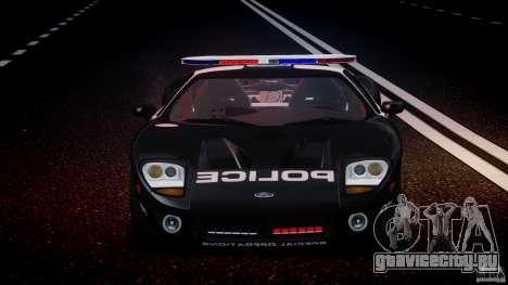 Ford GT1000 Hennessey Police 2006 [EPM][ELS] для GTA 4 вид снизу