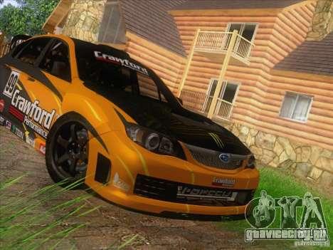 Subaru Impreza WRX STI N14 Gymkhana для GTA San Andreas вид изнутри