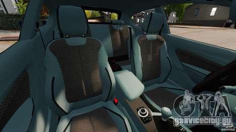 BMW 135i M-Power 2013 для GTA 4 вид изнутри