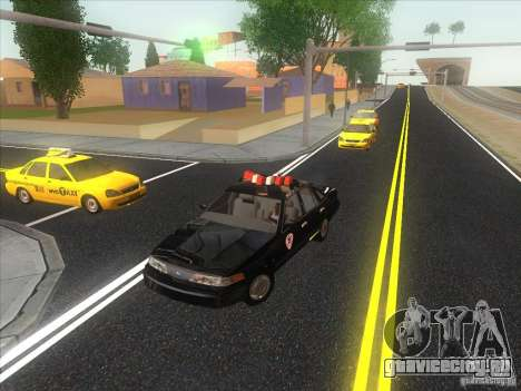 Ford Crown Victoria 1992 Detroit OCP для GTA San Andreas вид изнутри