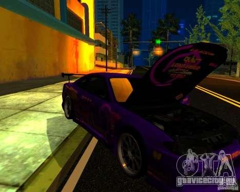 Nissan Silvia C-West для GTA San Andreas вид изнутри