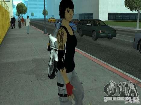 Mirrors Edge Faith для GTA San Andreas второй скриншот