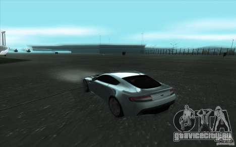 Aston Martin V12 Vantage для GTA San Andreas вид изнутри