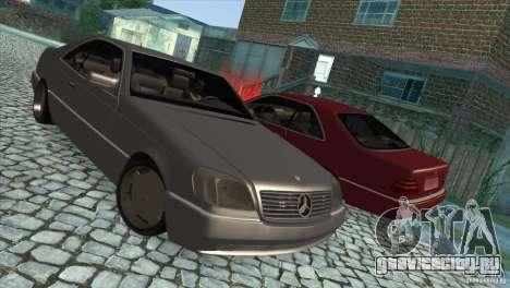 Mercedes Benz 600 Sec для GTA San Andreas вид сбоку