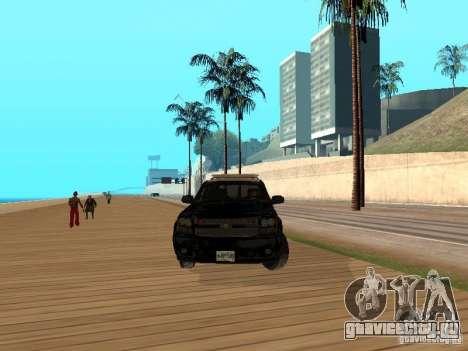 Chevrolet Tahoe Ontario Highway Police для GTA San Andreas вид сзади