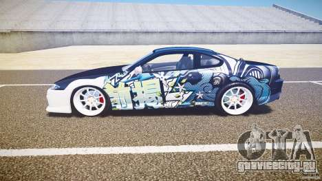 Nissan Silvia S15 Drift v1.1 для GTA 4 вид сзади слева