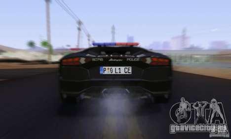 Lamborghini Aventador LP700-4 Police для GTA San Andreas вид сбоку