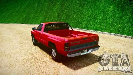 Dodge Ram 2500 1994 для GTA 4 вид сверху