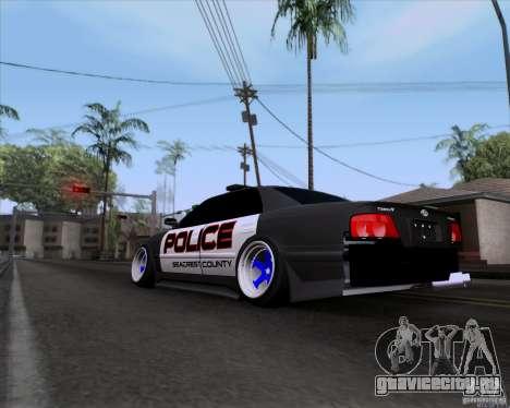 Toyota Chaser jzx100 Drift Police для GTA San Andreas вид слева
