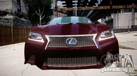 Lexus GS350 F Sport 2013 для GTA 4 вид сбоку