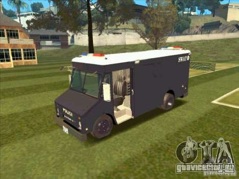Swat Van from L.A. Police для GTA San Andreas вид слева