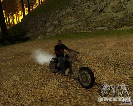 Hexer bike для GTA San Andreas вид изнутри