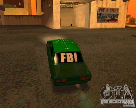 ВАЗ 2107 Бродяга v.1 для GTA San Andreas вид сзади слева