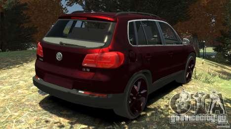 Volkswagen Tiguan 2012 для GTA 4 вид сзади слева