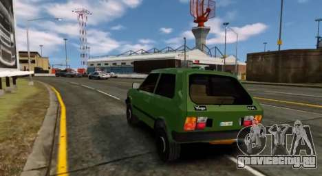 Zastava Yugo Skala для GTA 4 вид справа