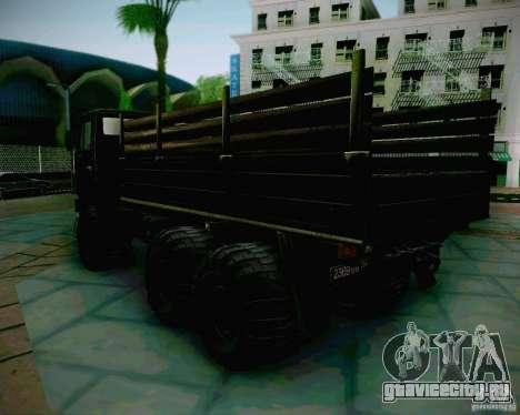 КамАЗ 4310 Армейский для GTA San Andreas вид слева