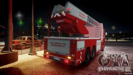 Scania Fire Ladder v1.1 Emerglights blue-red ELS для GTA 4 двигатель