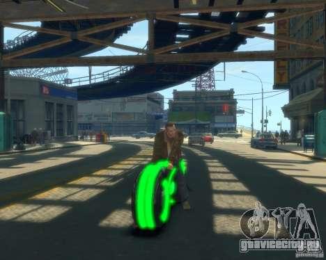 Мотоцикл из Трон (зеленый неон) для GTA 4