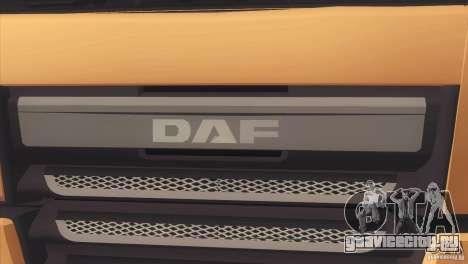 DAF XF Euro 6 для GTA San Andreas вид сзади