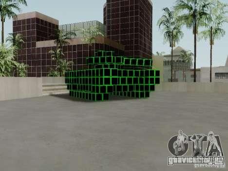 Pixel Tank для GTA San Andreas вид слева
