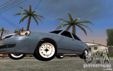Лада Приора light tuning для GTA San Andreas вид изнутри