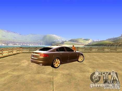 Jaguar XFR 2011 для GTA San Andreas вид сбоку