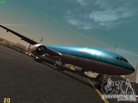 Boeing 777-200 KLM Royal Dutch Airlines для GTA San Andreas
