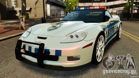 Chevrolet Corvette ZR1 Police для GTA 4