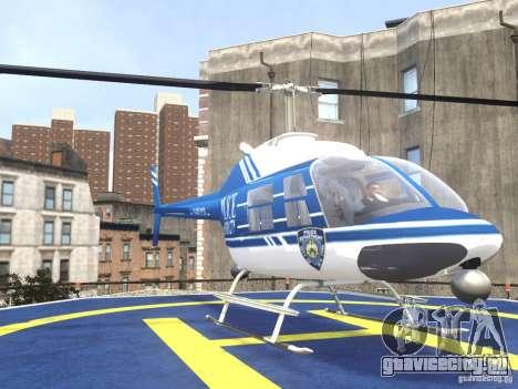 Bell 206 B - NYPD для GTA 4 вид сзади