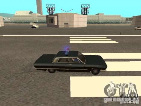 Police Savanna для GTA San Andreas вид сзади слева