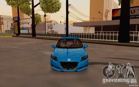 Honda CR-Z 2010 V3.0 для GTA San Andreas вид изнутри
