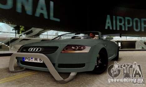 Audi TT Roadster для GTA San Andreas вид сзади